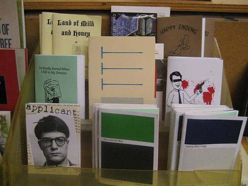 Powell's Books Portland Zines Shelves